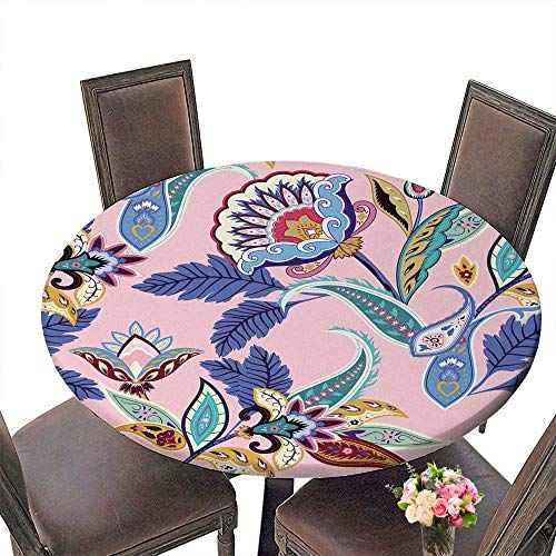 Like Paper Banquet Table Covers - PINAFORE Circular Table Cover India Seamless Paisley Retro Stylized Paper ation Wrapping Floral for Wedding/Banquet 31.5