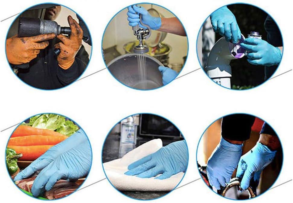 Exceart Guantes de Nitrilo Desechables Guantes Impermeables a Prueba de Aceite a Prueba de Aceite de L/átex para Limpieza Lavado Trabajo Cocina Examen Tama/ño XL 100 Piezas Violeta