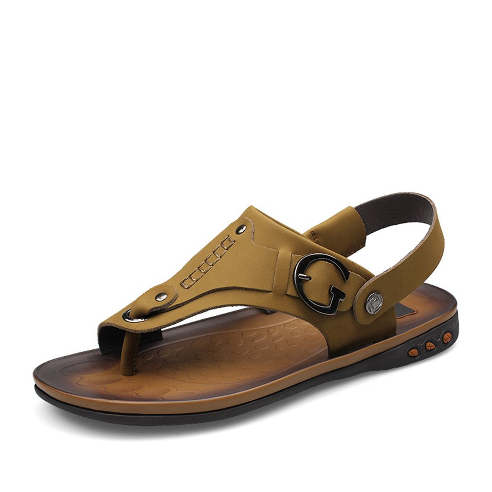 Muyin Mens Flat Heel Slip on Sandals Switch Backless Shoes