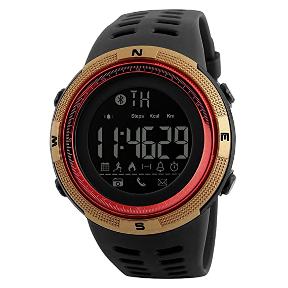 Bluetooth Impermeable Smartwatch para Android/iOS Teléfonos Luminoso Deportes Digital Reloj Apoyo Podómetro Caloría Actividad Grabar Llamada SMS ...