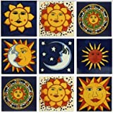 sun motif talavera mexican tile collection - Decorative Ceramic Tile