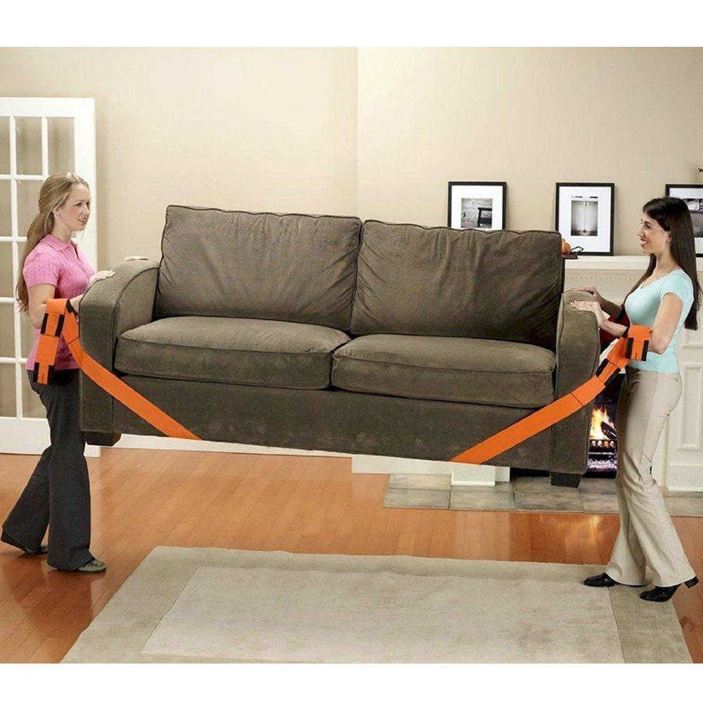 Byjia 2 Personas De Elevación Y Correas Móviles, para Transportar Fácilmente Muebles, Electrodomésticos, Colchones O Cualquier Objeto Pesado (Naranja), ...