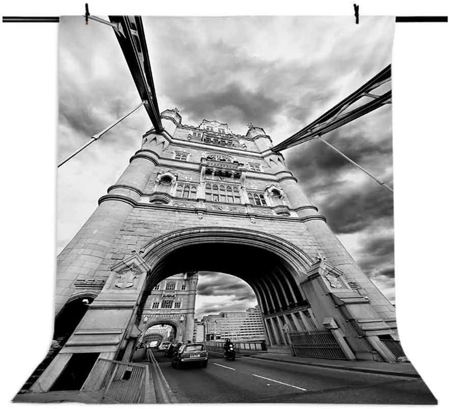 Modern 6.5x10 FT Backdrop Photographers,Tower Bridge London England Urban Street Traffic European Historical Picture Background for Child Baby Shower Photo Vinyl Studio Prop Photobooth Photoshoot