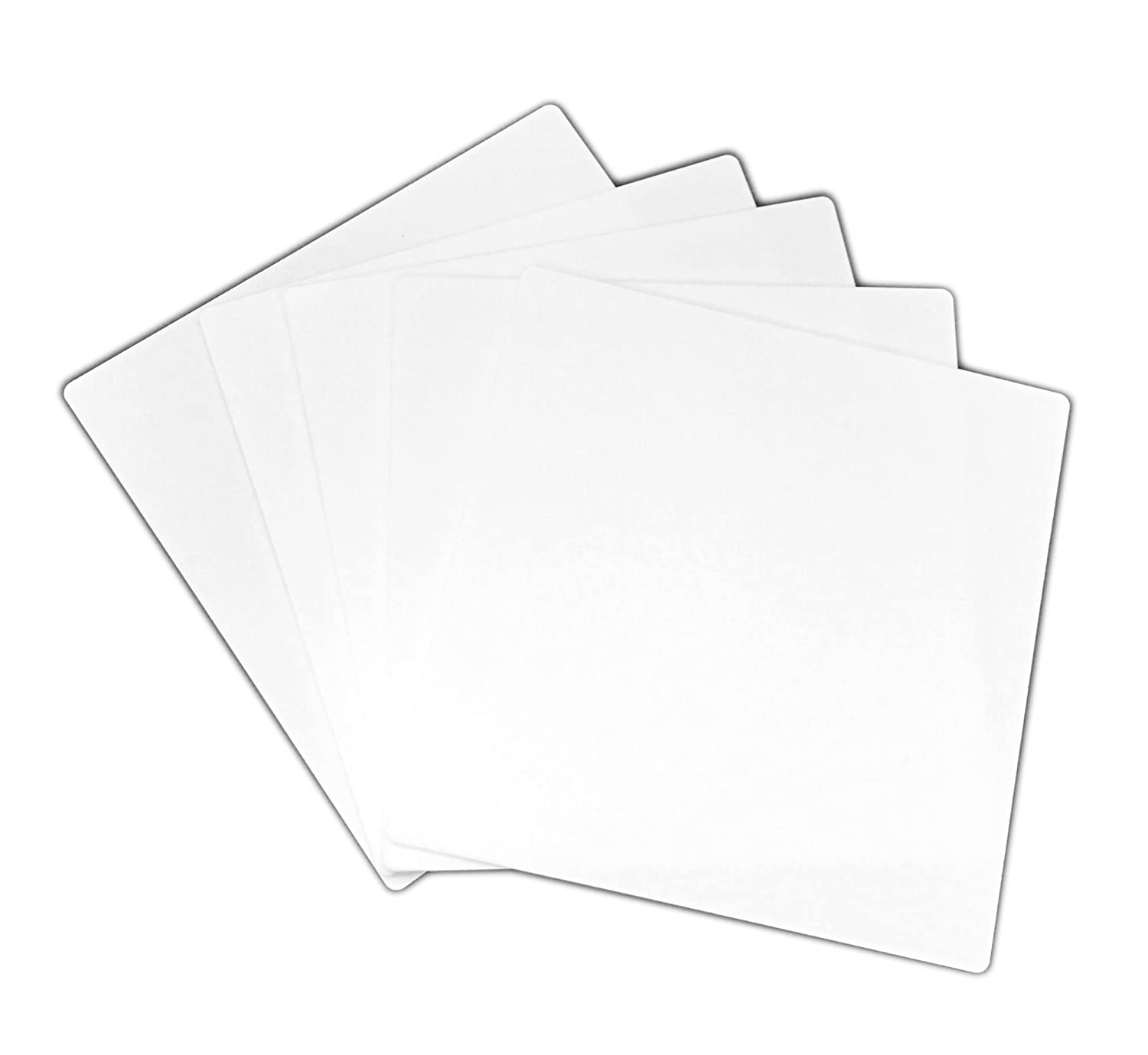 CP3 Brand 5x Alumina Ceramic Plate 4.5' Square 114cm Square 1mm .0394' thick rounded corners by CP3, Inc.
