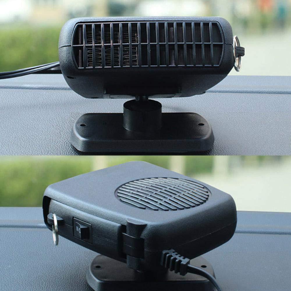 calentador de coche descongelador portatil 12v DokFin potente ventilador de coche el/éctrico con refrigeraci/ón//calefacci/ón 2 en 1 funci/ón desempa/ñador de autom/óviles con calor r/ápido y bajo ruido