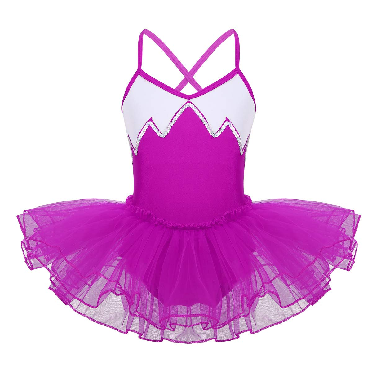 iiniim Girls Kids Princess Ballet Dance Tutu Dress Leotard Skirt Costumes