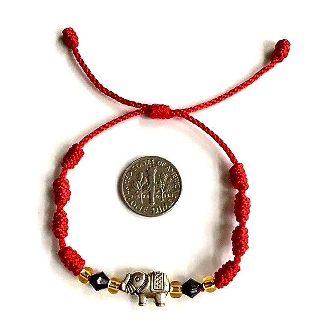 Amazon.com: LUXURYGOLD888 RED String Elephant Bracelet Good ...