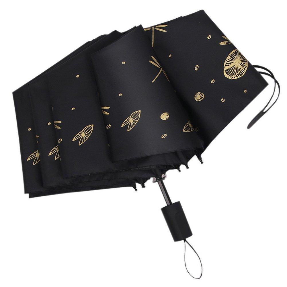 b50391ec339 Beautiful Sun Umbrella Manual Folding Umbrella Dragonfly Umbrella Black  50%OFF