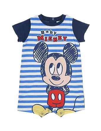 d05306f80d4c2 Barboteuse bébé garçon Disney Mickey Rayé Bleu Rouge de 6 à 24mois   Amazon.fr  Vêtements et accessoires