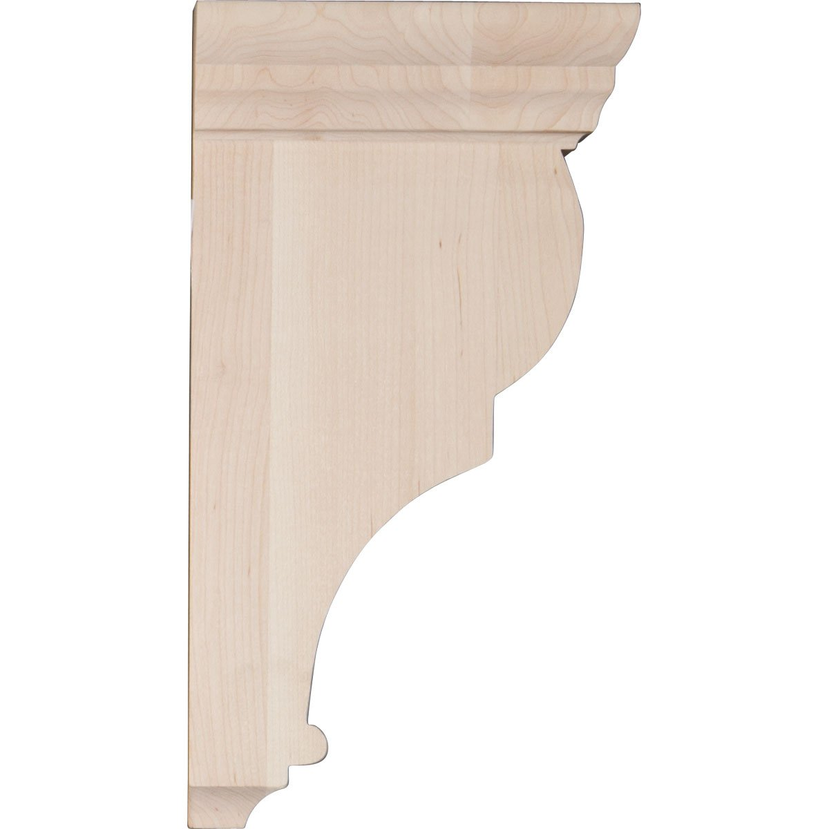 Rubberwood 2 1//2W x 5 1//2D x 10H Ekena Millwork CORW02X05X10RJRW Wood Corbel