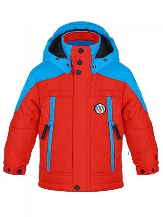 Veste de ski bleu blanc rouge