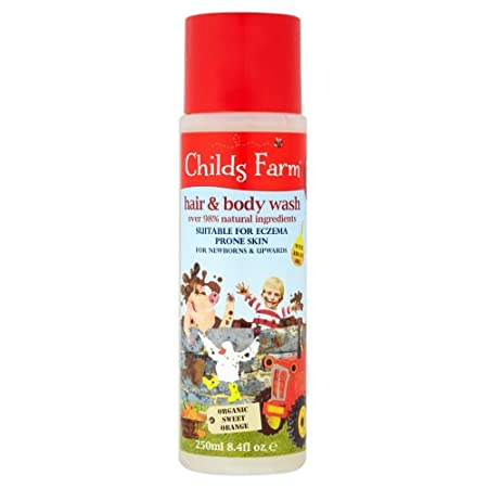 Childs Farm Caked in Mud Organic Sweet Orange Hair Body Wash for Dirty Rascals 250ml – Pack of 6
