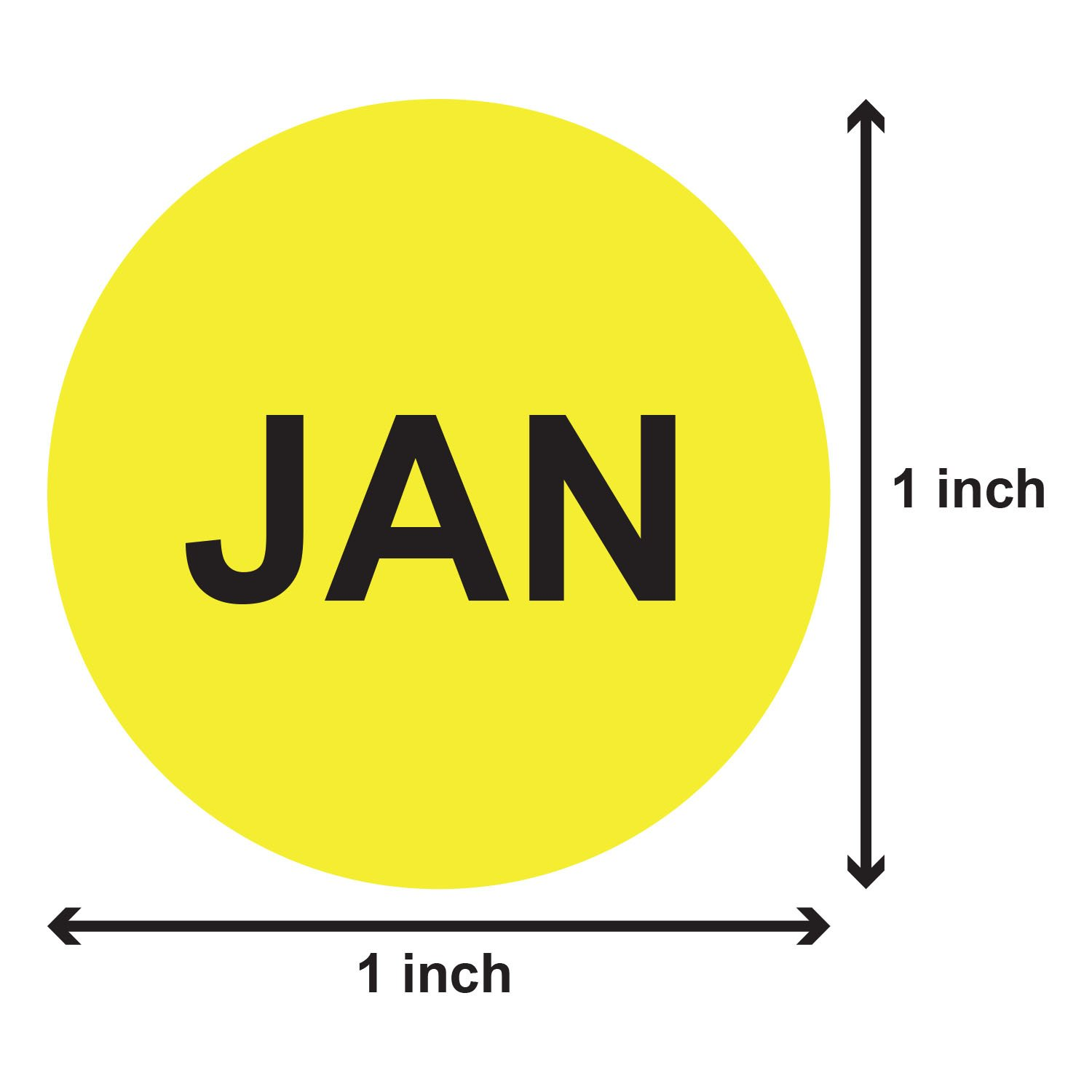 12 Months of the Year Labels Color Coding Dot Round Self Adhesive Stickers (1'' Round Dot Stickers) - 300 stickers per Month - 3600 stickers total by OfficeSmartLabels (Image #2)