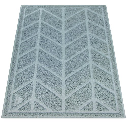 Alpine Neighbor Cat Litter Mat by XL Jumbo Size for Clean Floor Decorative Chevron Design Cover Extra Large Kitty Litterbox Covered Furniture Tray Small Dog Pet Rug Water Food Cleaning Top Paw Pad
