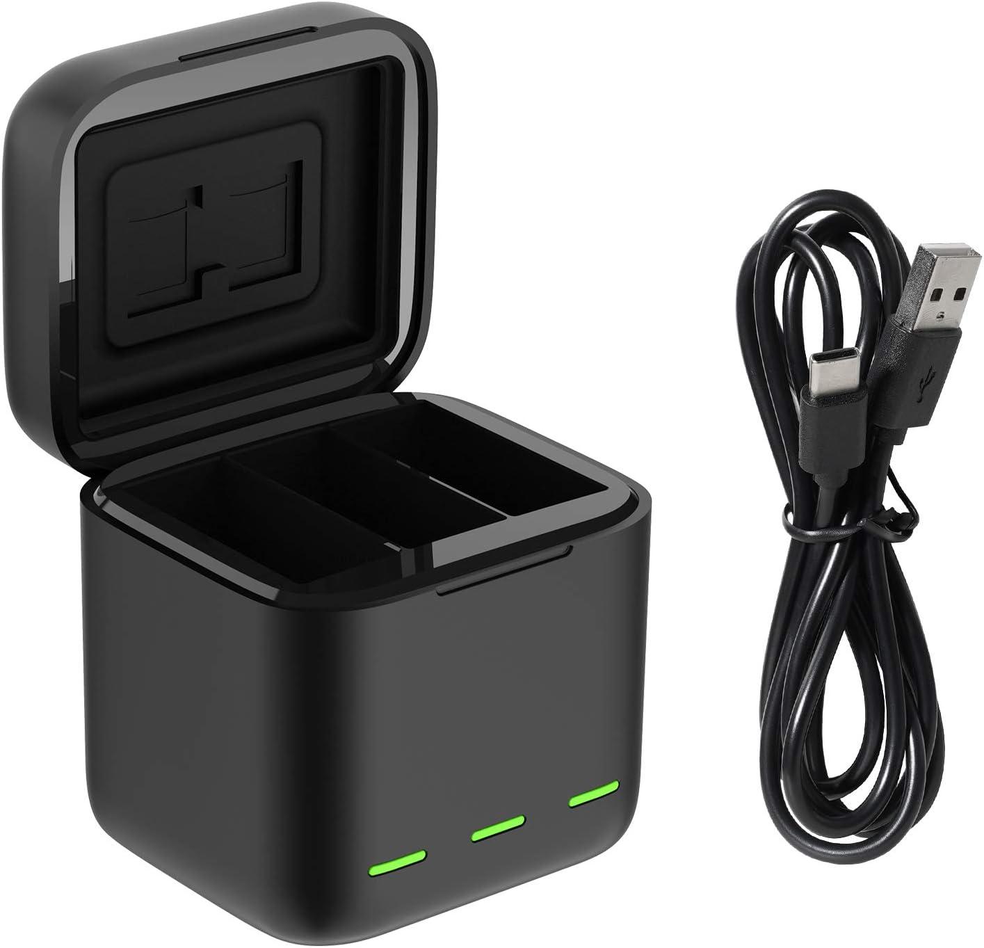 Cargador USB con cable tipo C para GoPro Hero 9 negro-
