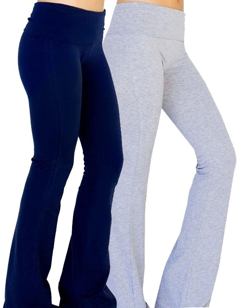 Unique Styles PANTS レディース B06ZY9P2JN M 2 Pack: Navy & Heather Grey 2 Pack: Navy & Heather Grey M