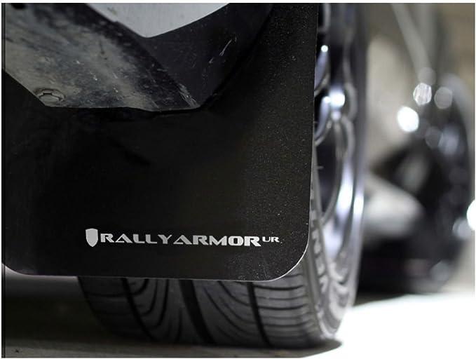 Rally Armor UR Black Mud Flaps Flap w// Silver Logo for 08-10 WRX /& 08-11 2.5i