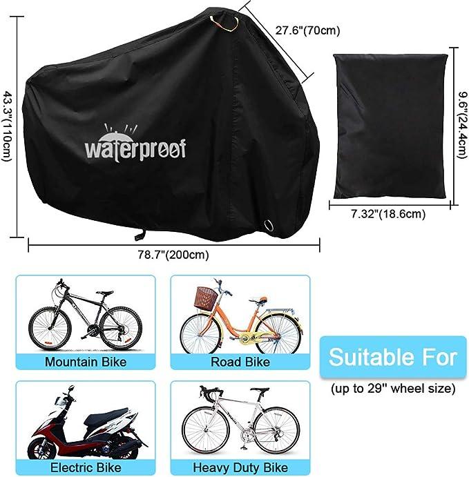 Dxlta bicicletta copertura antipolvere copertura antipioggia impermeabile per esterni ed interni bicicletta accessori