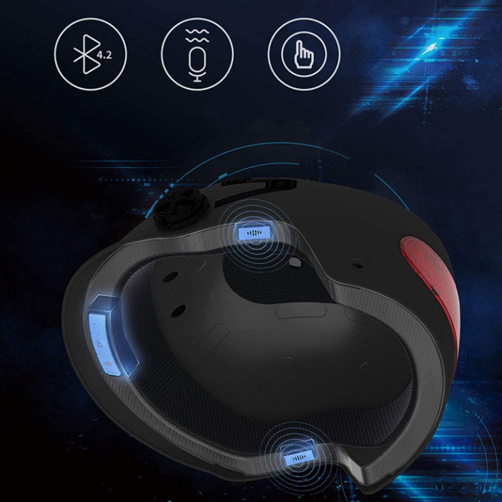 TO.1 Halbschalenhelm F/üR Motorrad Mit Bluetooth Freie Gr/ö/ßE Wasserdicht Windsicher Sto/ßD/äMpfung Ultraleichte Halbschalenhelm Mopedhelm F/üR Herren Damen Moto Helme