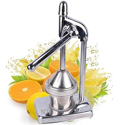 Exprimidor de frutas manual acero inoxidable naranja limón Juicer semiautomático Granada jugo extracción herramienta adecuada para