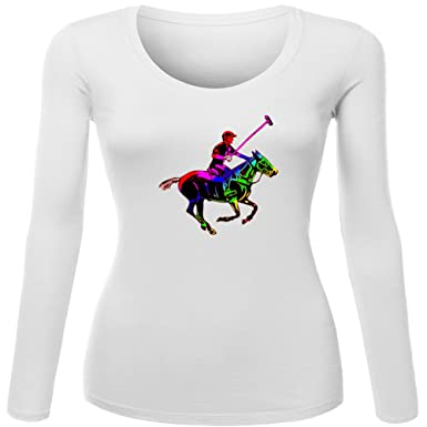 polo horse and playr 2016 For Womens Printed Long Sleeve tops T ...