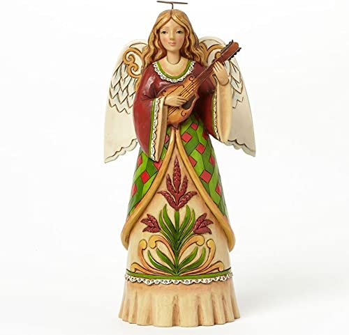 Jim Shore for Enesco Heartwood Creek Angel with Mandolin Figurine, 9.5-Inch