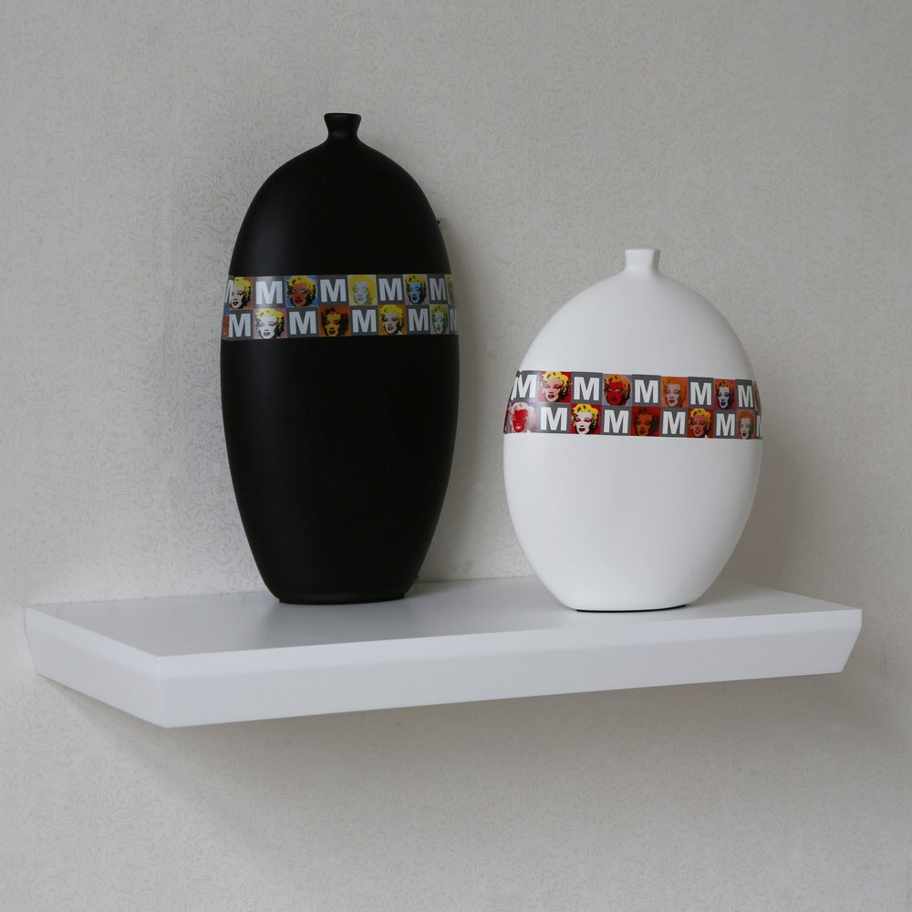 Naiture 24 x 10 x 2 Inch Diagonal Edge Floating Wall Shelf, Espresso Naiture Home Store SH062402
