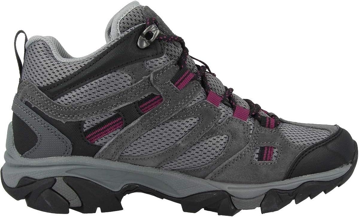 Zapatillas para mujer carb/ón//gris fr/ío//amaranto 2019 Hi-Tec Ravus Vent Mid WP