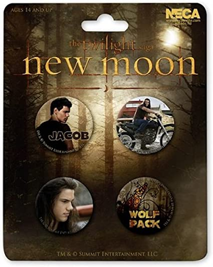 JACOB & WOLF PACK SET DE 4 PINS LUNA NUEVA (CREPUSCULO): Amazon.es ...