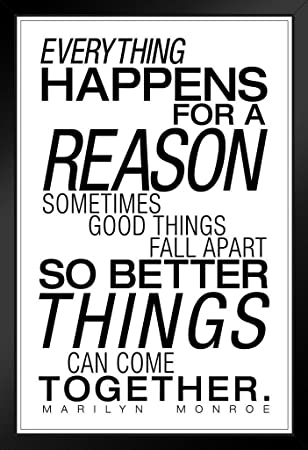 Amazoncom Everything Happens For A Reason White Marilyn Monroe