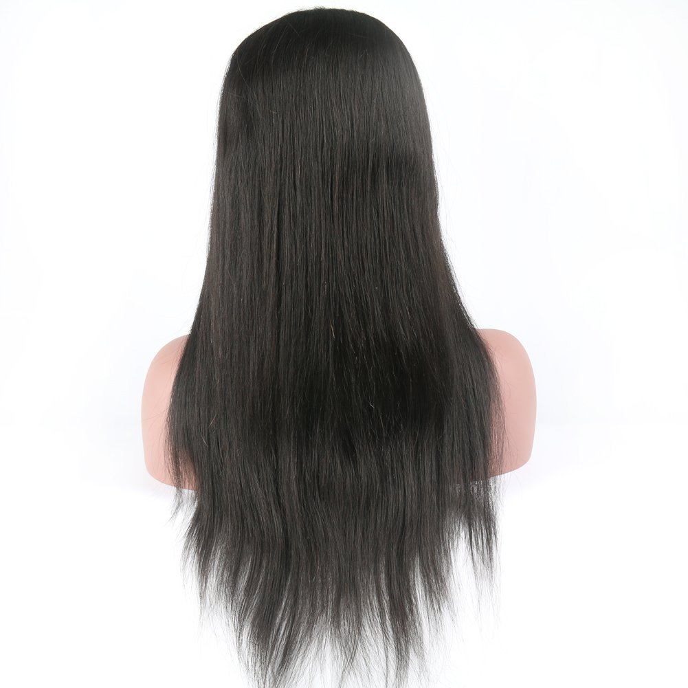 Eayon Hair 6A Virgin Hair Glueless Human Hair Full Lace Wigs Brazilian Silky Straight Hair Lace Wig with Baby Hair for Women 130% Density Natural Color 18 inch by Eayon Hair (Image #4)