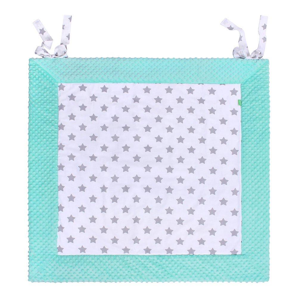 Manta infantil acolchada suave Lulando, manta de juego Es una manta de juego suave y práctica para tu bebé, disponible en tres tamaños. gris Grey - White Stars/Grey Talla:120 cm x 120 cm 882707