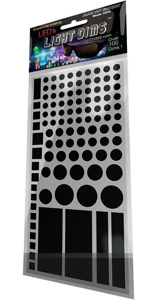 LightDims - Atenuadores De Luz Black Out Edition - Bloqueo De Luz LED Covers / Lamina Atenuadora De Luz Para Routers, Aparatos Electró nicos Y Mas. Bloquea 100% De La Luz, En Empaquetado De Tienda. Aparatos Electrónicos Y Mas. Bloquea 100% De La Luz