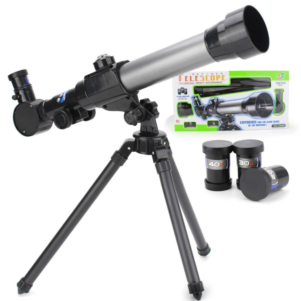 Astronomical Telescope, Hometom Children Astronomical Telescope with Tripod for Christmas and Birthday Gifts (Black)