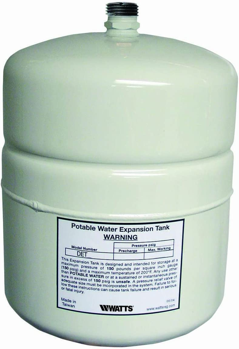 Watts DET-12 4.5 G Potable Water Expansion Tank for 50-Gallon Water Heaters