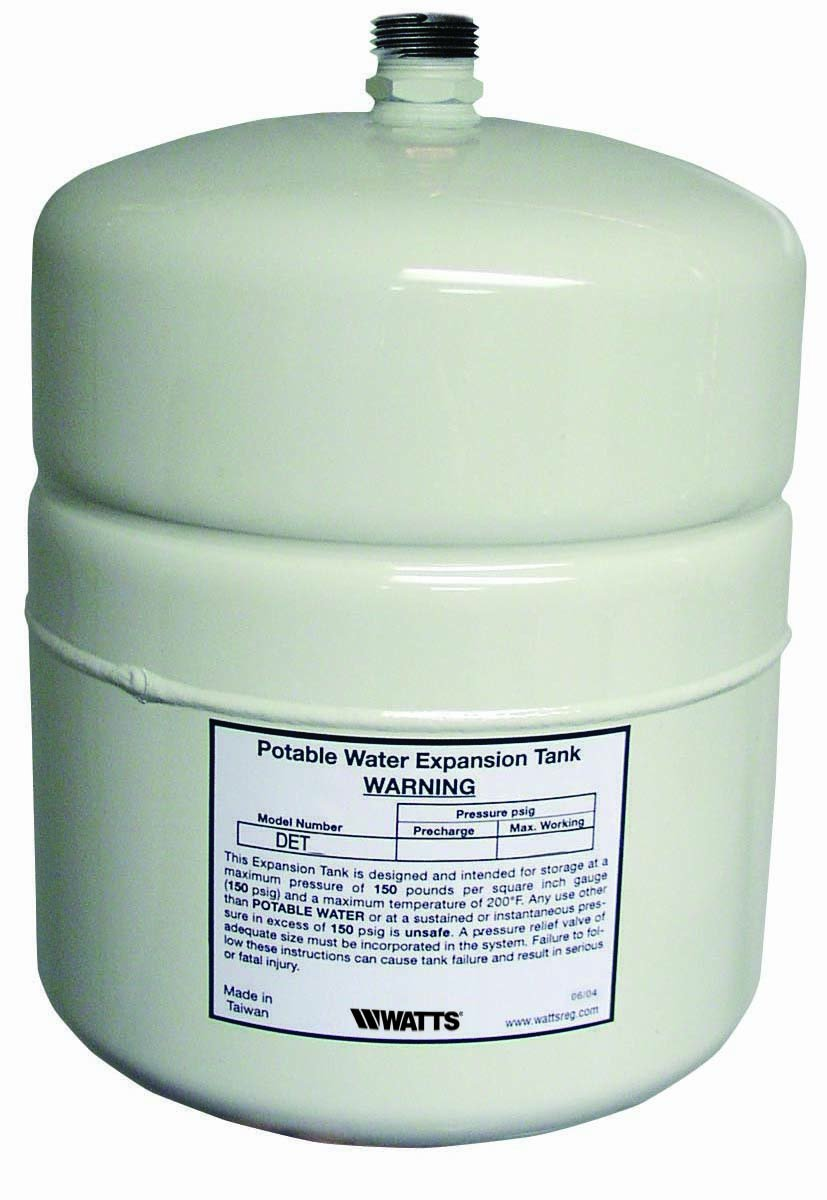 Watts DET-5 2.1 G Potable Water Expansion Tank for 50-Gallon Water Heaters