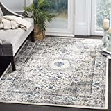 Safavieh Evoke Collection EVK220D Vintage Oriental Grey and Ivory Square Area Rug (5'1'' Square)