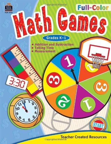 Read Online Full-Color Math Games, Grades K-1 ebook