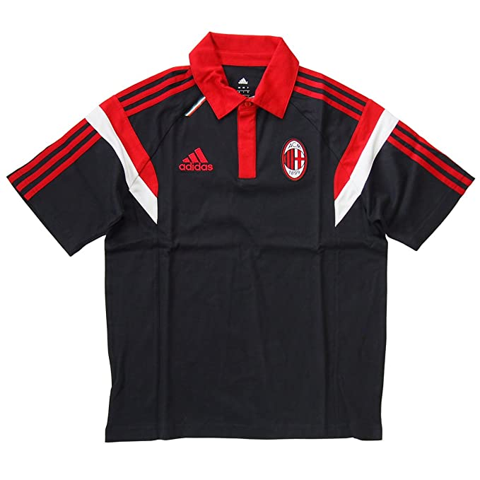 adidas AC Milan formación Polo Camiseta 2014 2015, Hombre, Negro ...