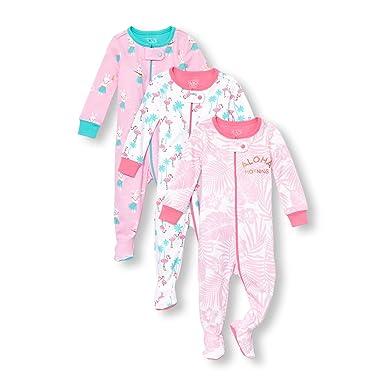 59cf6cc2e2ba Amazon.com  The Children s Place Baby Girls 3 Piece Stretchie Bundle ...