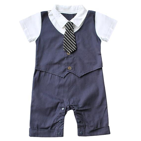7ea73a995129b EFE Vêtement de Bébé Garçon avec Casquette Barboteuse Costume de Baptême 6-18  Mois: Amazon.fr: Vêtements et accessoires