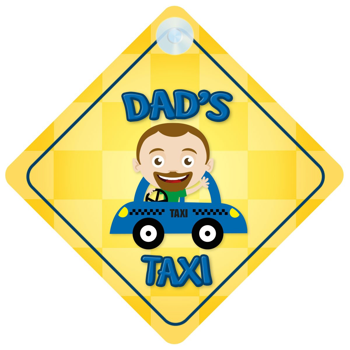 Dads Taxi Car Sign Funny Novelty Gift//Present Baby on Board Style Sign