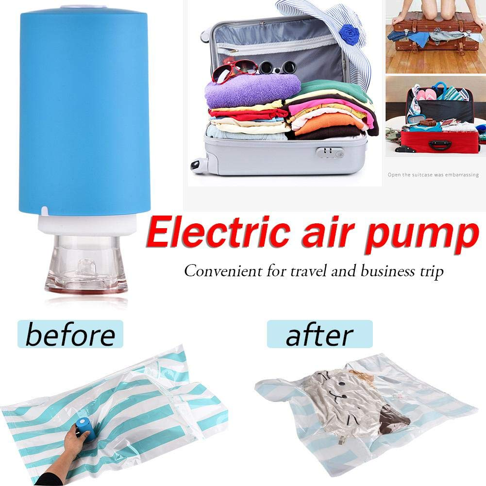 PIONIN Vacuum Pump Electric Air Pump Hand-Pump for Travel Multi-Functional Dual-Use Travel Compression Bag Vacuum Storage Bag Air Extractor
