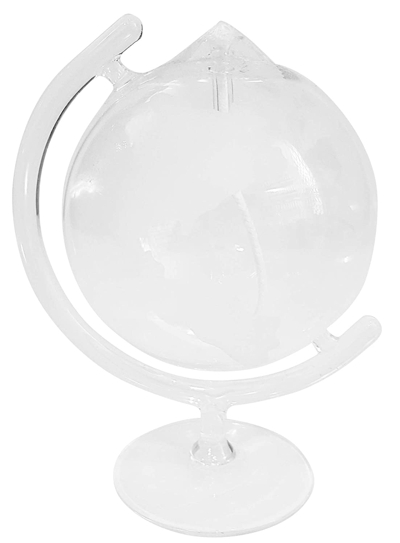 Lampada ad olio a piedi, in forma di globo, lampada a petrolio di vetro chiaro e soffiato con la bocca, riempire, altezza circa 150 millimetri, progetto Oberstdorfer Glashütte