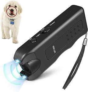 Mimill Handheld Dog Repellent, Ultrasonic Infrared Dog Deterrent, Bark Stopper + Good Behavior Dog Training