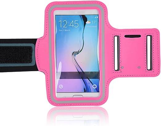 Scrox Funda para teléfono Deportivo Sports Armband Sujetador de teléfono para iPhone 7 Plus 6 Plus 6s Plus Brazalete para Samsung teléfonos, Brazalete para Smartphone(Rosa): Amazon.es: Hogar