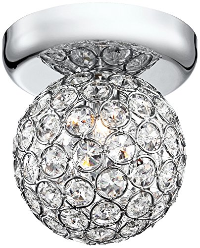Cheap Tiara Crystal Sphere 4 1/4″ Wide Chrome Ceiling Light