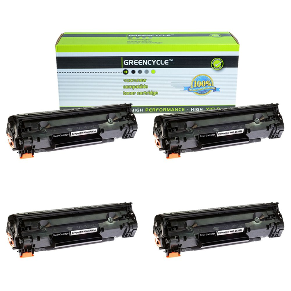Good Greencycle 4 Pk Compatible For Hp Cf283a 83a Black Toner Cartridge Laserjet Pro Mfp M127fw