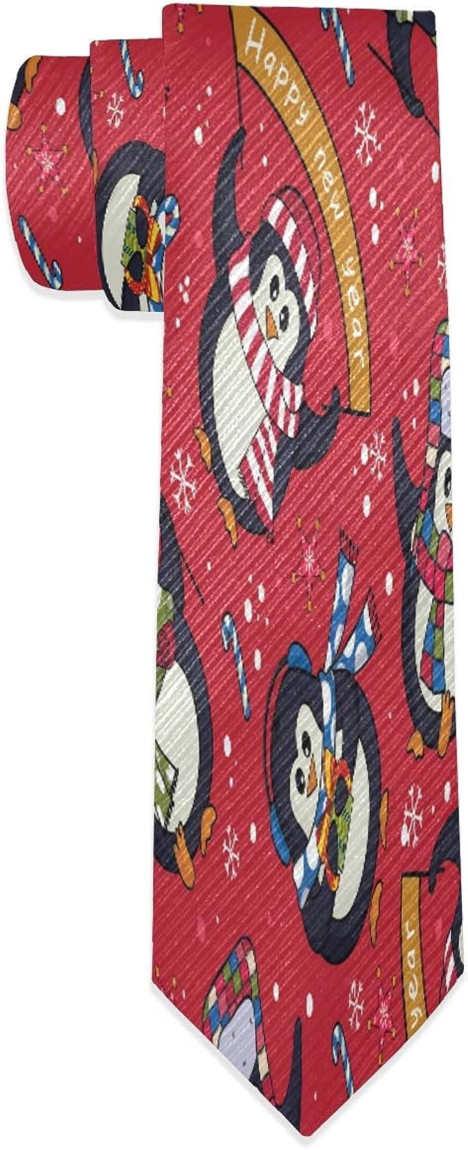 Corbata de Navidad para hombre, diseño de pingüinos: Amazon.es ...