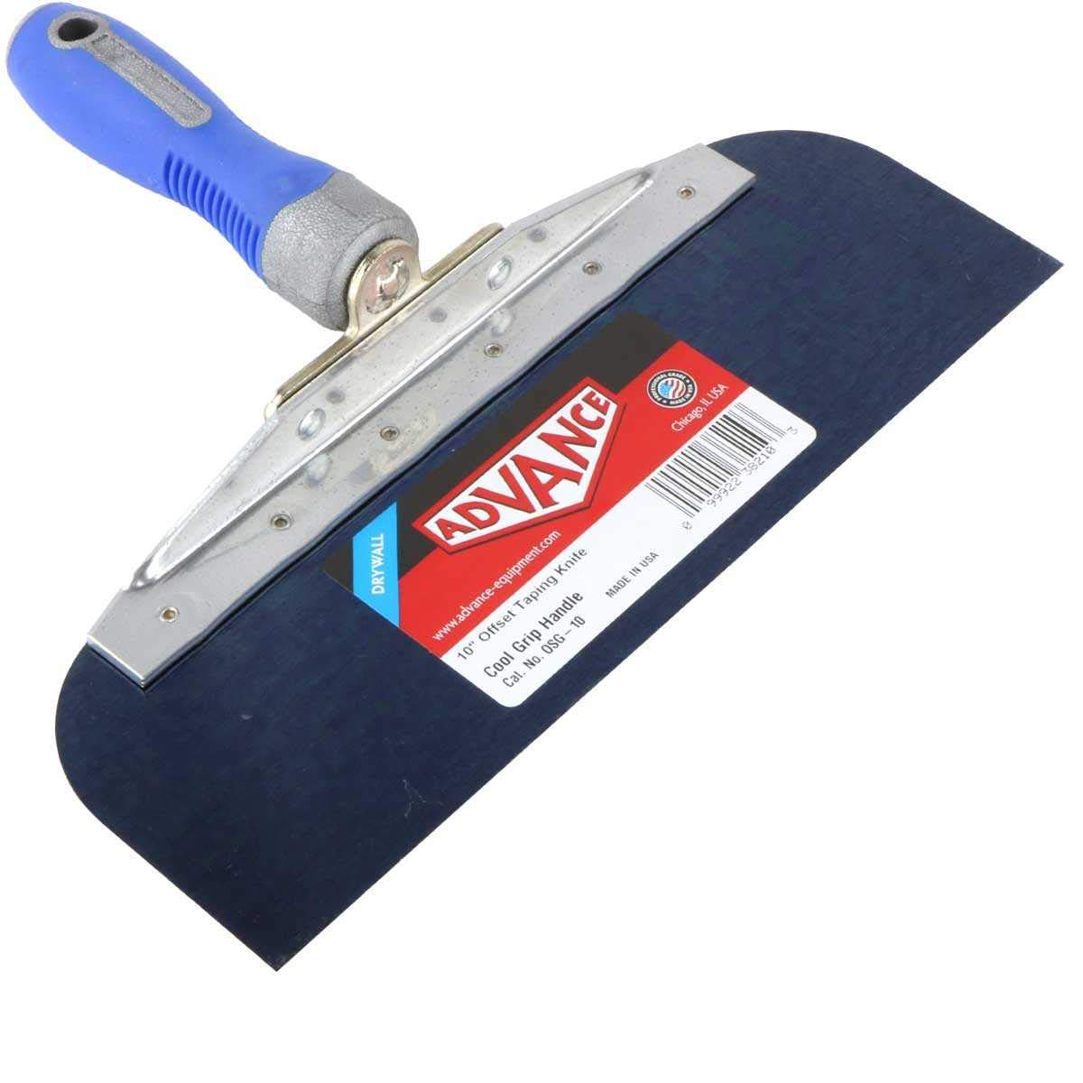 Drywall Offset Taping Knife 10'' & 12'' Blue Steel Knives Set by Advance (Image #2)